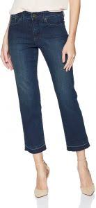 Nydj Size Chart Nydj Womens Jenna Straight Ankle With Raw Hem Jean Clean Bezel 0