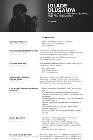 Freelance Film Maker Cameraman Editor Cv Resume Design