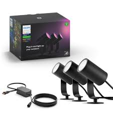 Philips Dusk To Dawn Light Bulb Philips Hue Lily White Color Outdoor Spot Light Base Kit