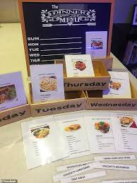 Familys Genius Way Of Planning Meals For The Week Using
