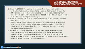 Example Of An Annotated Bibliography Apa Style 6th Edition Apa Format