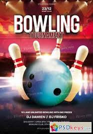 Bowling Event Flyer Template Bowling Free Download Photoshop Vector Stock Image Via