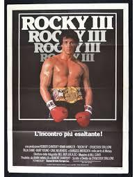 manifesto ROCKY III 3 Sylvester Stallone Talia Shire Pugile Boxer M325