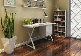 modern home office featuring glossy white. Modern Home Office Featuring Glossy White