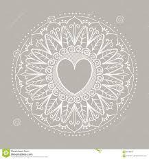 эскиз сердец хны татуировки иллюстрация вектора иллюстрации
