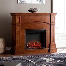 lantana corner convertible electric fireplace oak saddle loading zoom