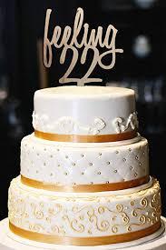Amazoncom Feeling 22 Cake Topper Feeling 22 22nd Birthday Cake