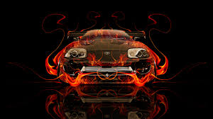 toyota aristo jdm front fire abstract car