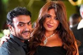 الفنانة ايمان السيد وزوجها