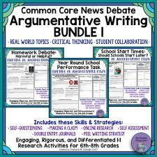 common core news debate essays differentiated argumentative  common core news debate essays differentiated argumentative writing bundle