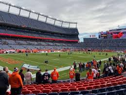 Empower Field At Mile High Stadium Section 110 Home Of