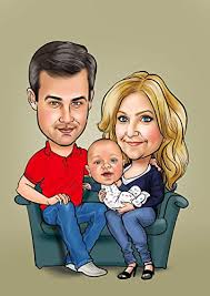 family caricature gift