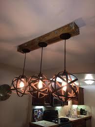 handmade pallet pendant light fixture