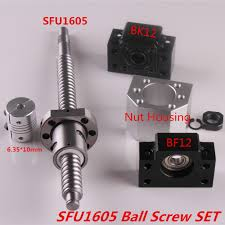 <b>SFU1605 Set SFU1605 rolled ball</b> screw C7 end machined + ballnut ...