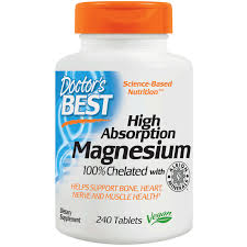 <b>High Absorption Magnesium</b> (100 mg, 240 tablets) by Doctor's Best ...