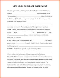 Sublet Agreement Sample Sublease Agreement Artresume Sample 16