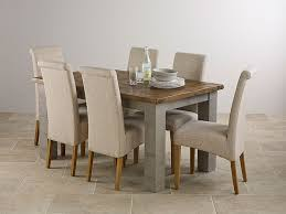 oak painted small extending dining table