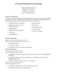 Call Center Sample Resume With No Experience Outstanding Samplesume For Call Center Agent Applicant 1