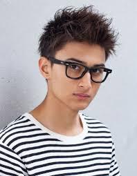 メンズビジネスメガネが似合うショート髪型ny 99 ヘアカタログ
