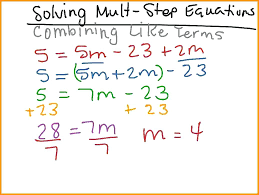multi step linear equations worksheets orig 5 with fractions