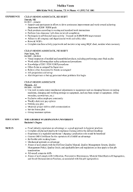 Clean Room Resume Samples Velvet Jobs
