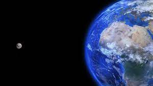 Wallpaper Earth, Moon, planet, galaxy ...