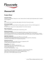 Flowcrete Color Chart Flowseal Uv