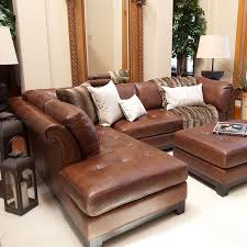 leather sofa with chaise. Delighful Leather Tufted Leather Sectional Sofa In Bourbon With A Hardwood Frame Product  Leftarmfacing SofaConstruction Mate And Leather Sofa With Chaise