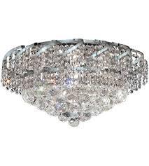 elegant lighting veca1f20c sa belenus 8 light 20 inch chrome flush mount ceiling light in spectra swarovski