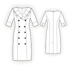 Dress Patterns Free Online Interesting DoubleBreasted Dress Sewing Pattern 48 Madetomeasure Sewing