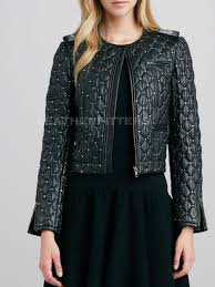 Diamond Quilted and Studded Women Leather Cropped Jacket... - Fotolog & Diamond Quilted and Studded Women Leather Cropped Jacket - Get this cool  style women leather jacket · › Adamdwight.com