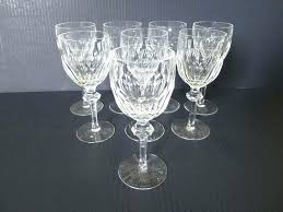 crystal patterns vintage stemware service for eight waterford identify f