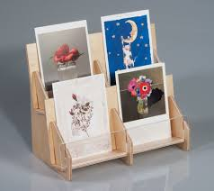 Wooden Greeting Card Display Stand Card Invitation Design Ideas Greeting Card Display Stands 100 Side 3