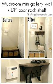 Coat Rack Shelf Diy Impressive Diy Wall Coat Hooks Wall Coat Rack Mudroom Mini Gallery Wall Coat