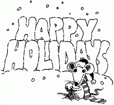 Small Picture Happy Holidays Colouring Page Coolage intended for Happy Holidays