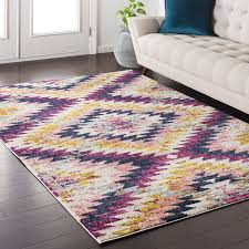 mistana nichole purple area rug reviews wayfair within and yellow plans 4