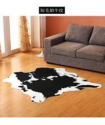 cow print rug creative mat zebra leopard cow print rug faux cowhide tricolor cowhide rug animal