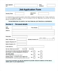 Printable Application For Mployment Inspiration Employment Application Form Template Uk Restaurant Application