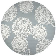 rizzy home azzura hill gray medallion 8 ft x 8 ft round outdoor area