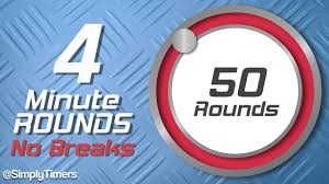 Timer 4 Min 4 Min Interval Timer With No Breaks 50 Rounds