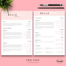 Modern And Simple Resume Template Bella Price