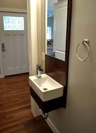 dark espresso cherry wood wall mount vanity cabinets small powder room designs white vanity table single sink grey polished floating lamp wall mounted oval