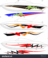 Boat Graphics Designs Ideas Boat Graphics Stripe Vinyl Ready Stock Vector Royalty Free