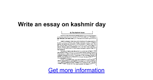 write an essay on kashmir day google docs