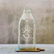 personalised birthday traditional milk bottle