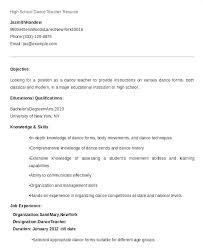 Dance Resume For Modern Ballet Dancer Resume Dancer Resume Ballet Teacher Resume Sales