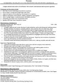 Luxury Special Event Planner Resume Sample Elaboration Examples