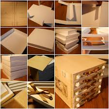 diy decorated storage boxes. plain boxes diy cardboard storage bins on decorated boxes g