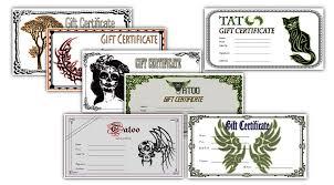 editable certificate template tattoo gift certificate template blank tattoo gift certificate gift certificate