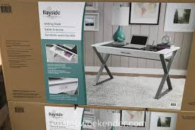bayside furnishings white wood writing desk great for your home office